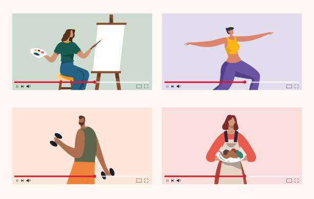 108 Online Yoga Classes Illustrations Royalty Free Vector Graphics Clip Art Istock