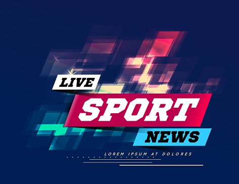 Live Sport News Can be used as design for television news, Internet media, landing page. Vector