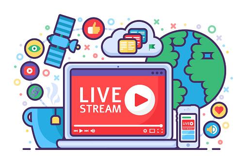 Live stream concept icon