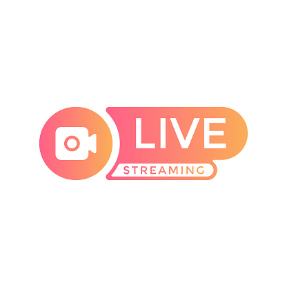 Live Stream Logo Vector Design.