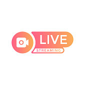istock Live Stream Logo Vector Design. 1221674991