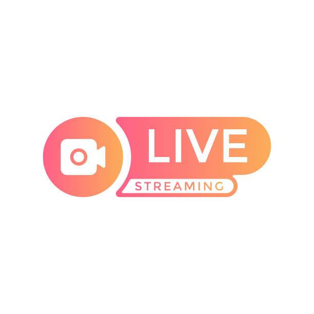 ilustrações, clipart, desenhos animados e ícones de design vetorial de fluxo de transmissão ao vivo. - live