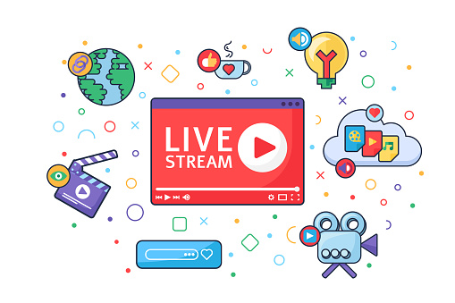 Live stream producing tools concept icon