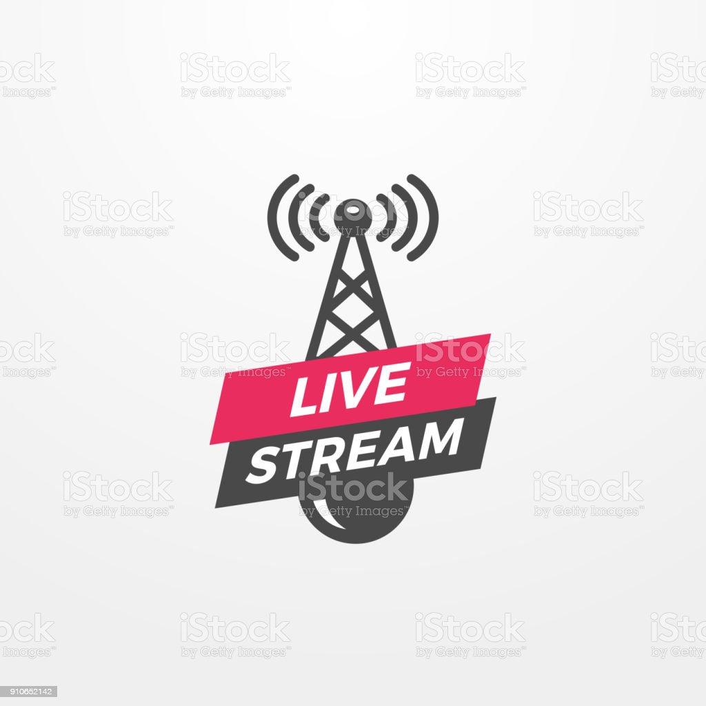 Live Stream vector art illustration