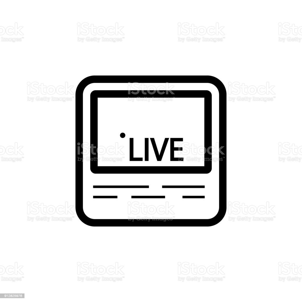 Live Streaming On Screen Icon Elements Of News And Media