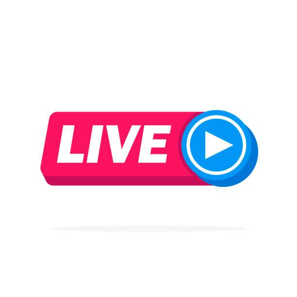 Live Streaming Online-Zeichenvektor-Design – Vektorgrafik