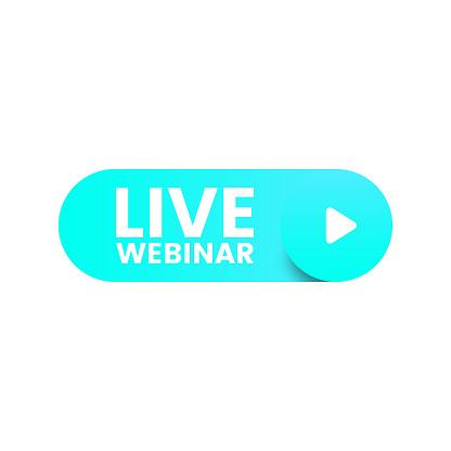 Live Webinar Button Vector Design.