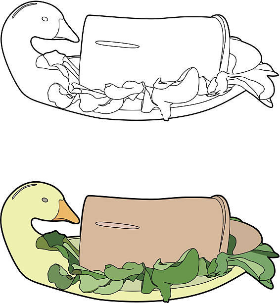 illustrations, cliparts, dessins animés et icônes de terrine de foie gras - foie gras