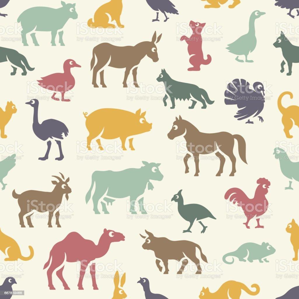 Livestock Pattern - illustrazione arte vettoriale