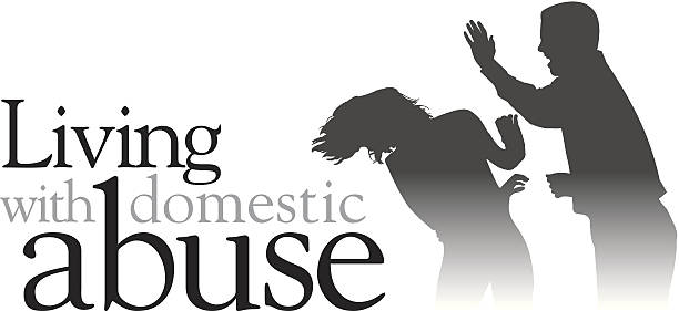 living abuse heading - domestic violence stock illustrations