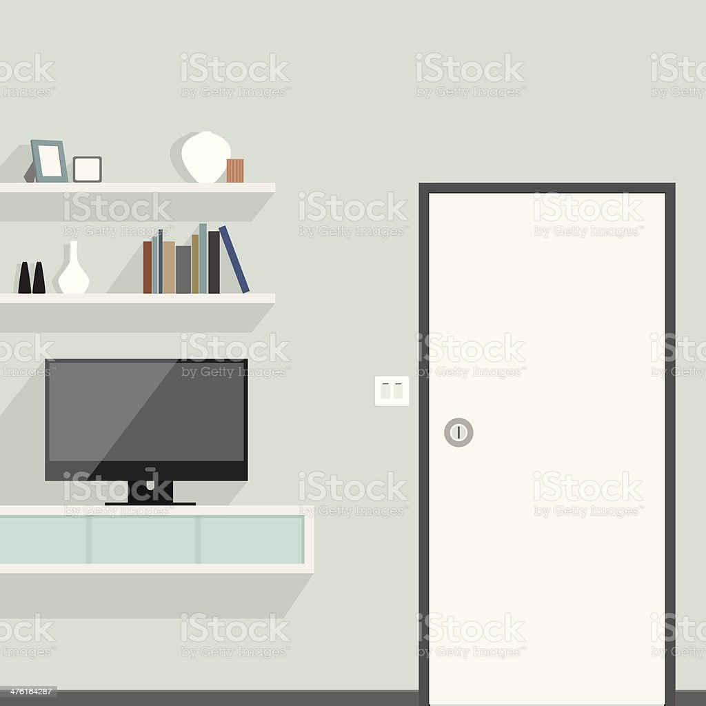 living area style of vector create vector art illustration