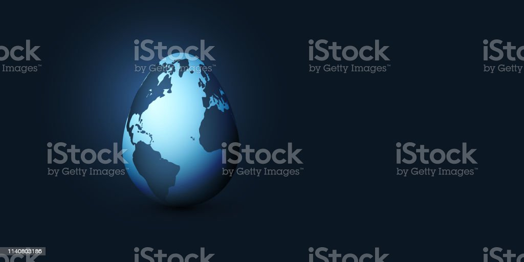 Abstract Globe Concept - Illustration in Editable Vector Format
