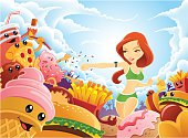 This download includes 3 female versions: Red Hair, Blond Hair, and Ethnic female.