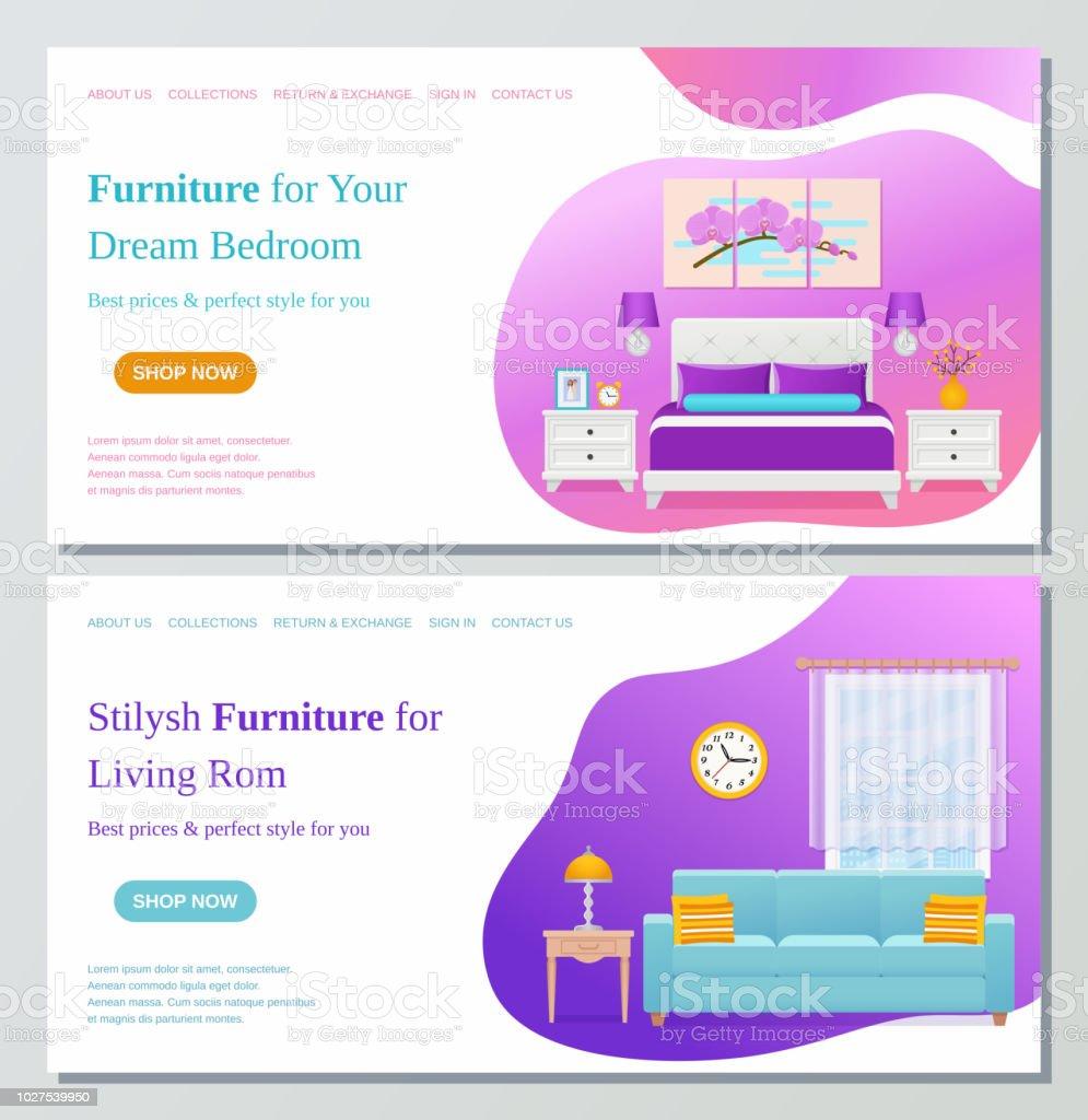 Salle De Séjour Chambre Mobilier Web Page Design Modèle ...