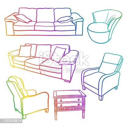Living Room Furniture Rainbow