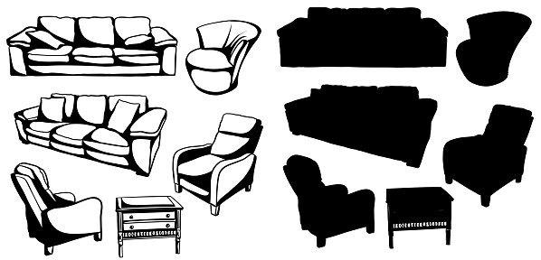 Living Room Furniture SIlhouette