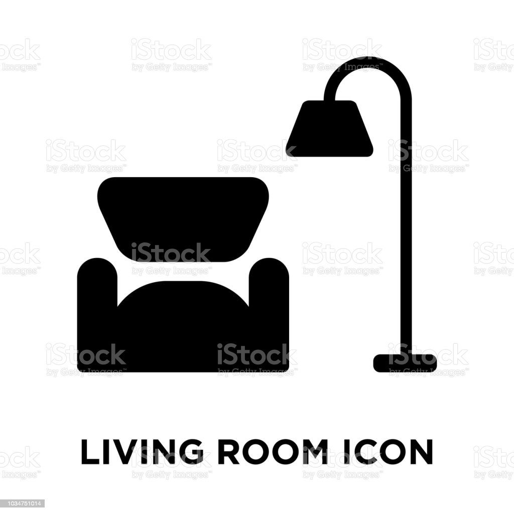 Living Room Icon Vector Isolated On White Background Logo