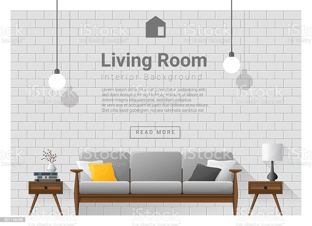 Living room Interior background 1 vector art illustration
