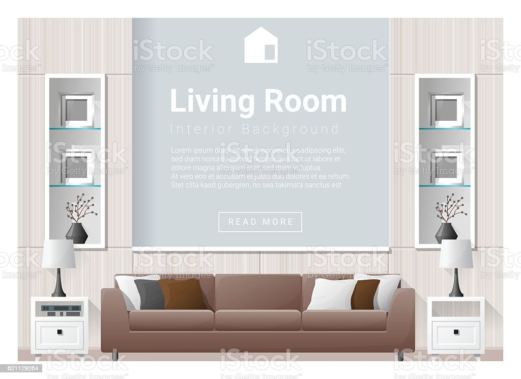 Living room Interior background 3 vector art illustration