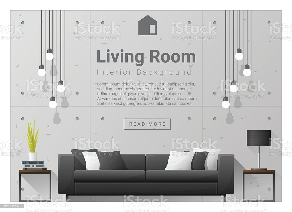Living room Interior background 6 vector art illustration
