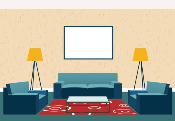 Royalty Free Animated Living Room Clip Art, Vector Images
