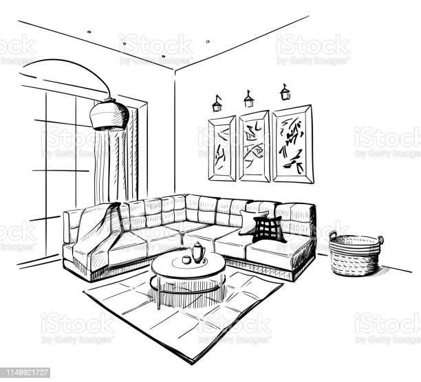 Living room interior sketch vector id1149921727?b=1&k=6&m=1149921727&s=612x612&h=agk3u2kh2qmo3vh26 sxqgb4z5xhsufyefb8oa6osa8=