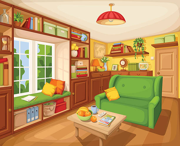 Best Empty Living Room Illustrations, Royalty-Free Vector