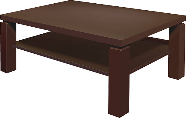 Living Room Table Vector Art Illustration