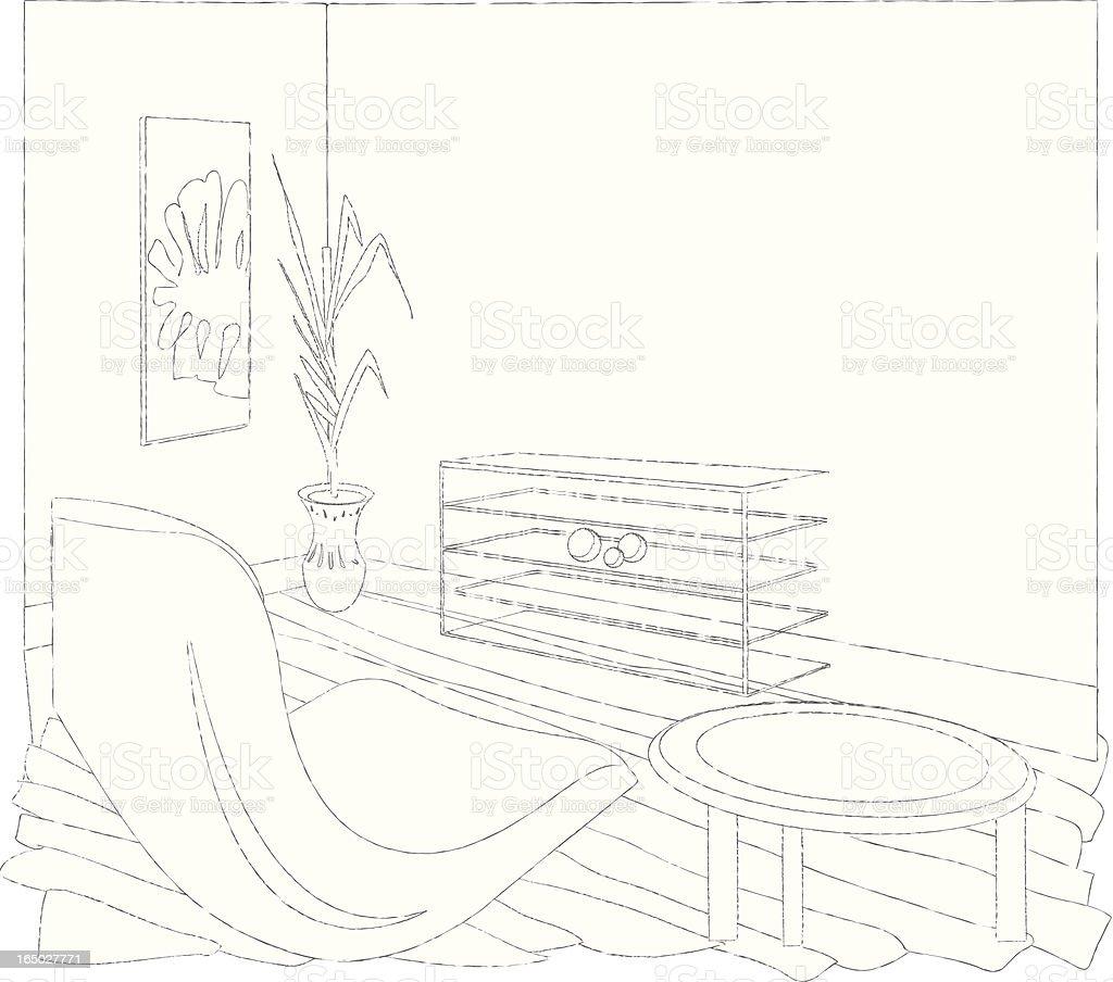 PB Living Room royalty-free stock vector art
