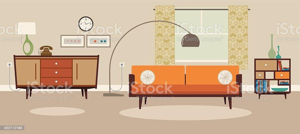 Living room - Royaltyfri Bekväm vektorgrafik