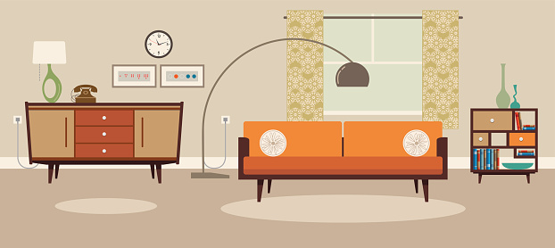Living Room-vektorgrafik och fler bilder på Bekväm