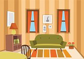 Vector living room.