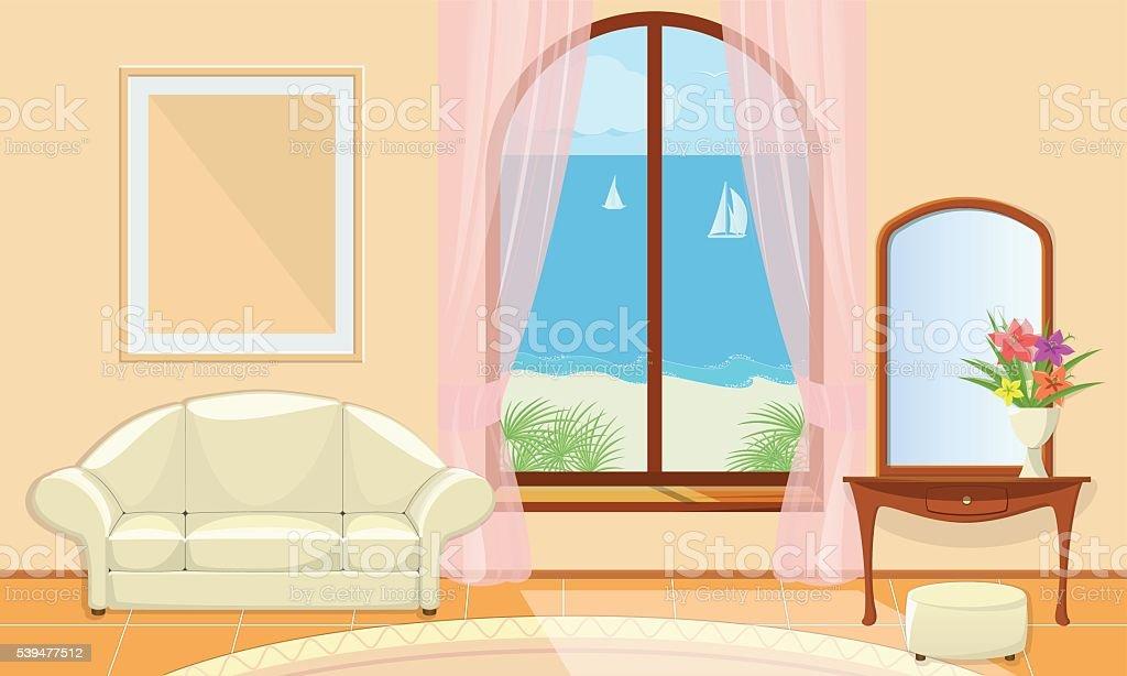 Living room. vector art illustration