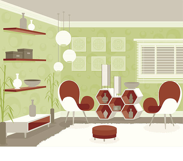 Royalty Free Tidy Living Room Clip Art, Vector Images