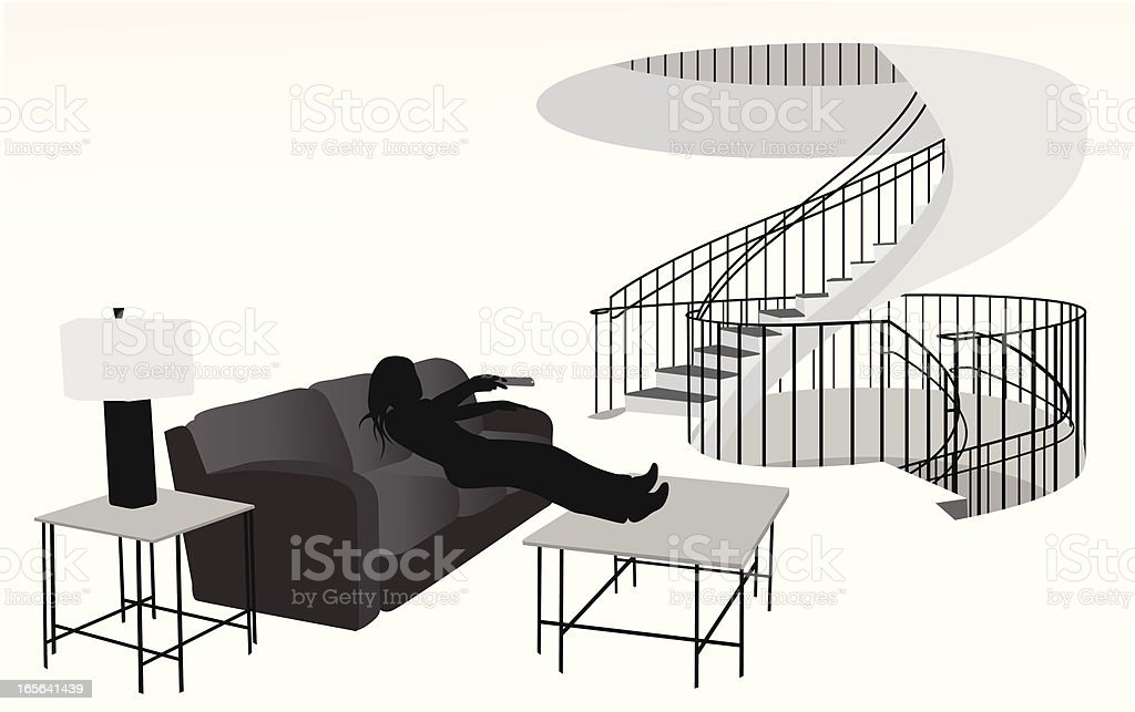 Living Space Vector Silhouette vector art illustration