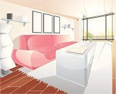 Vector illustration of a livingroom. Easy to edit EPS 8.