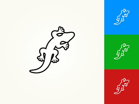 Lizard Black Stroke Linear Icon