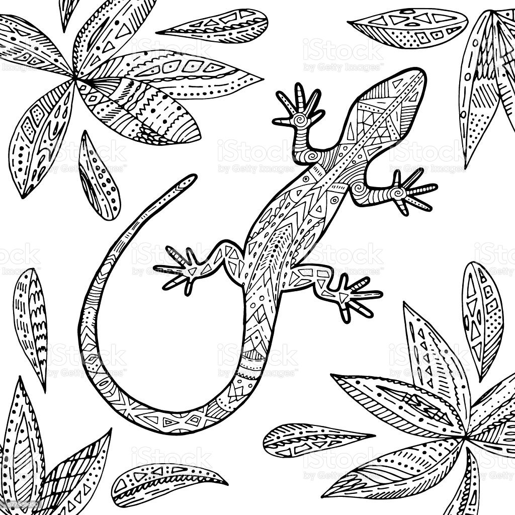 Lizard illustration. vektorkonstillustration