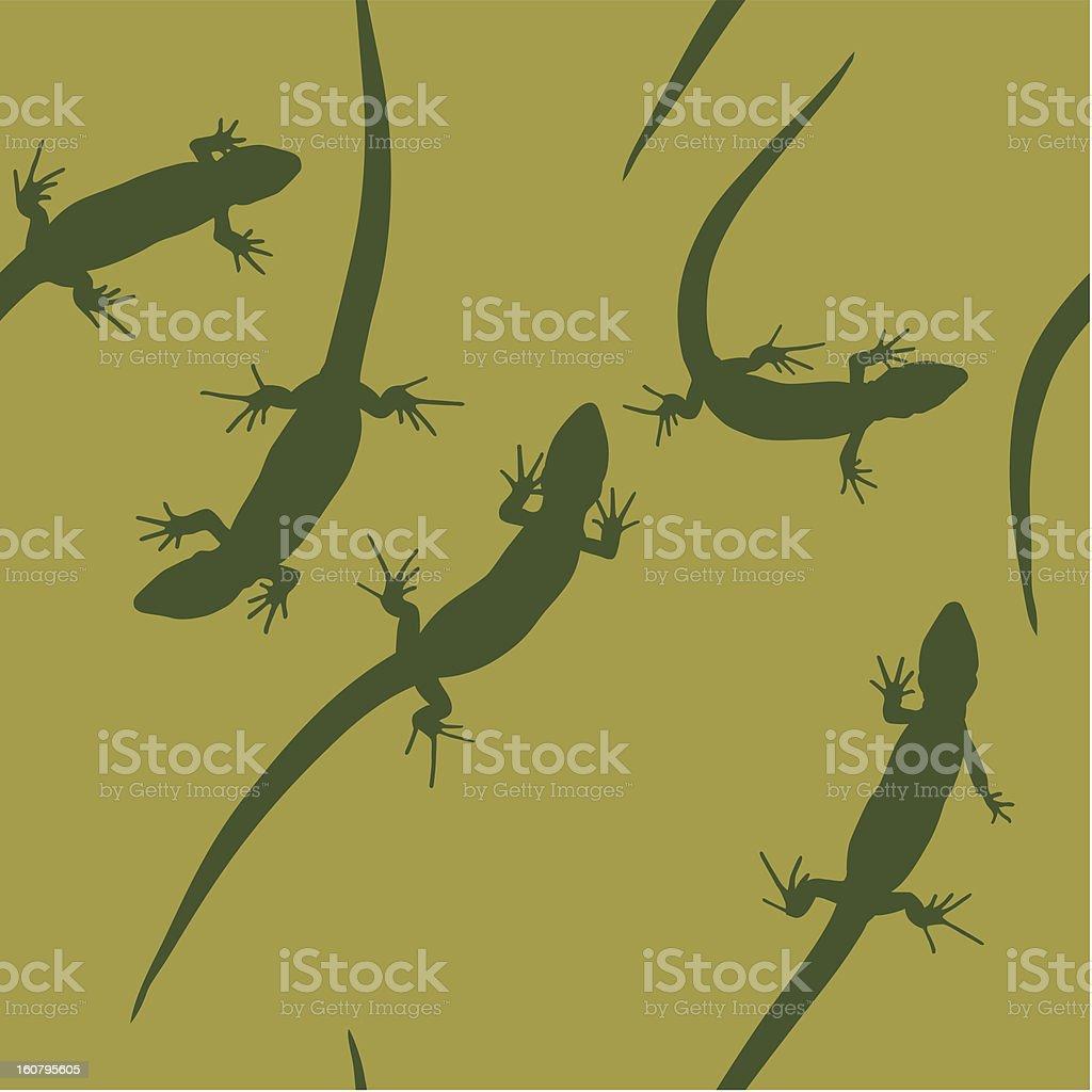 lizard seamless pattern vector art illustration