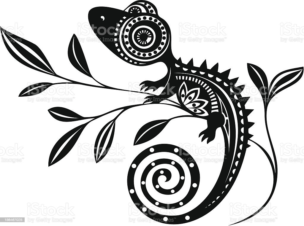 Lizard Stock Vector Art & More Images of Angle 156467025 ...