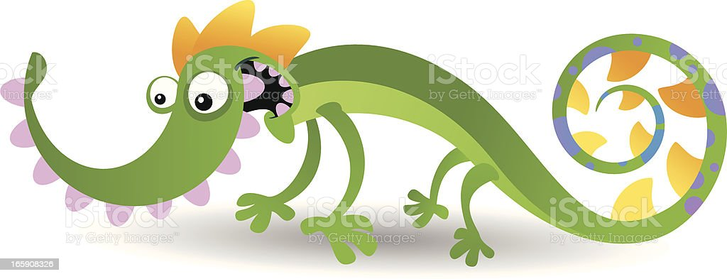 Lizard vector art illustration
