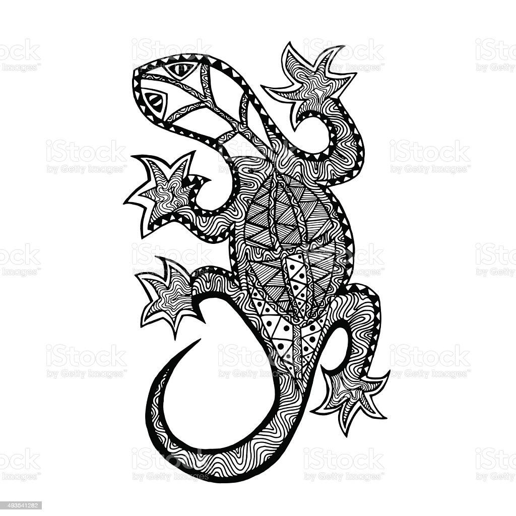 Lizard. vector art illustration