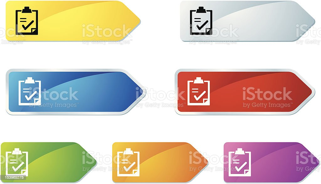 'L-label' Icon Series | Checklist royalty-free stock vector art