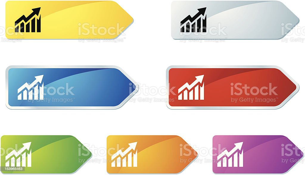 'L-label' Icon Series   Financial Chart royalty-free llabel icon series financial chart stock vector art & more images of arrow symbol