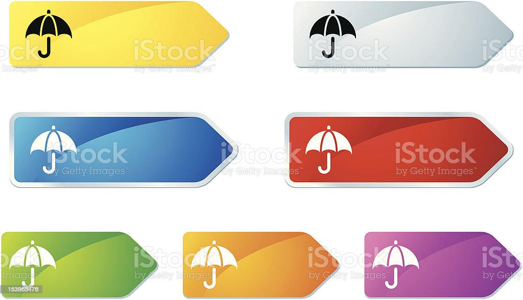 'L-label' Icon Series | Financial Protection royalty-free stock vector art