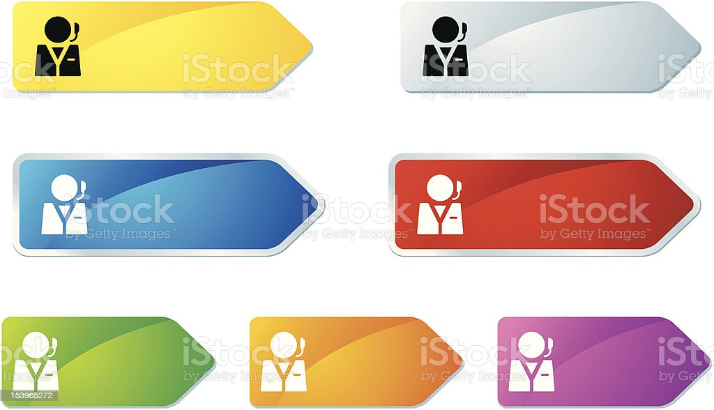 'L-label' Icon Series | Support royalty-free stock vector art