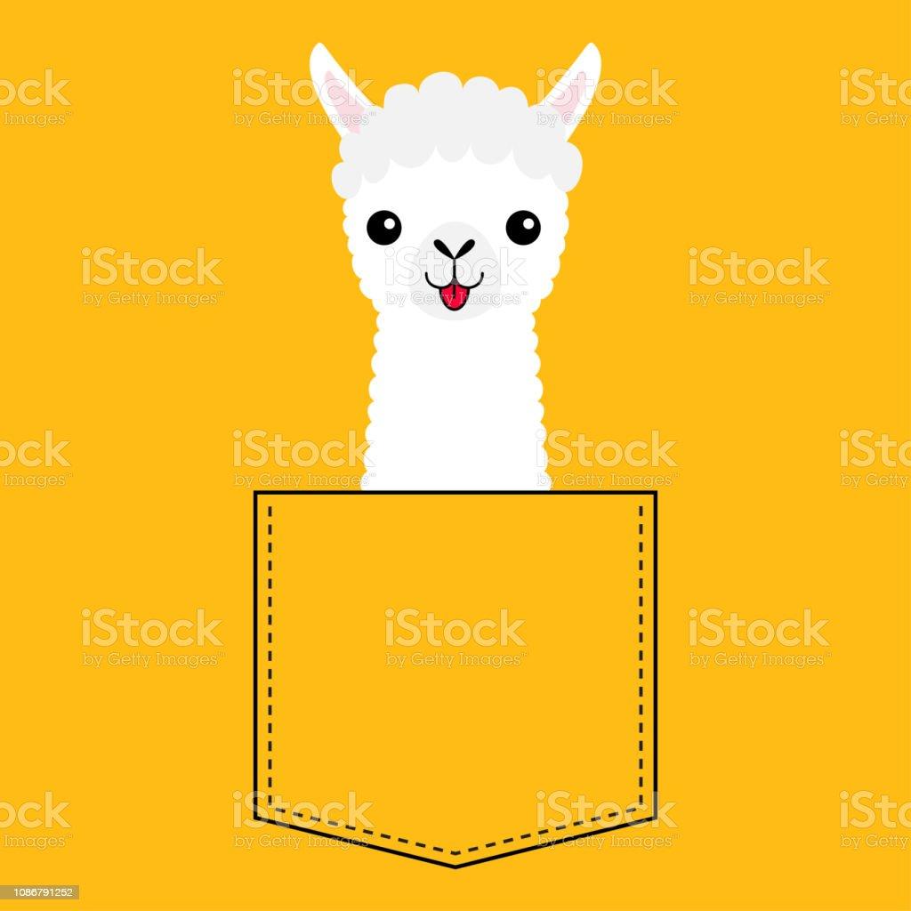 Alpaka Tasche Cartoon Gesicht Kopf Lama Der Niedlichen In tdxQrshC