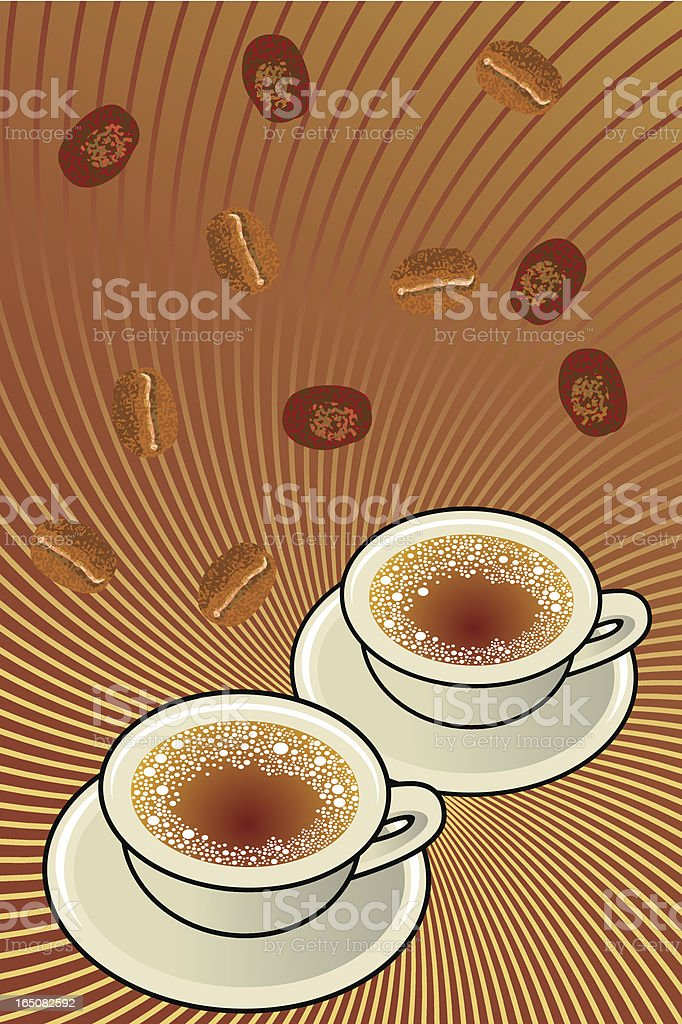 llueve café royalty-free stock vector art