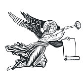 istock llustration of the angel 1181898980
