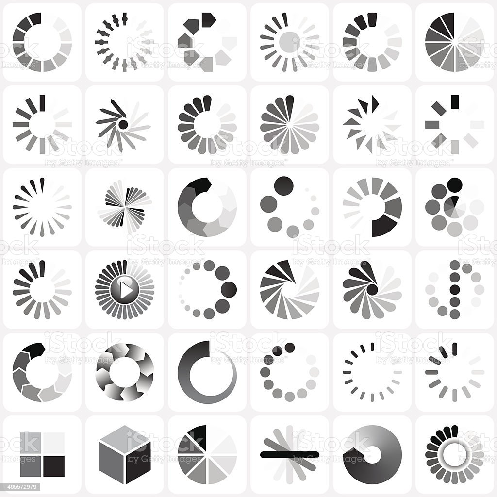 load indicators set vector art illustration